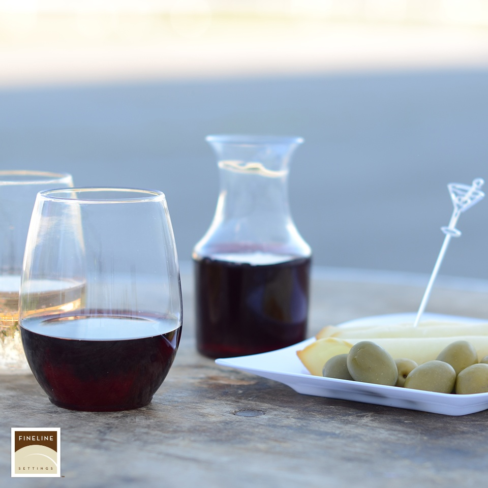 Shatter Proof Stemless Wine Glass and Carafe