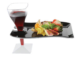 disposable cocktail plate