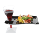 Cocktail disposable plate