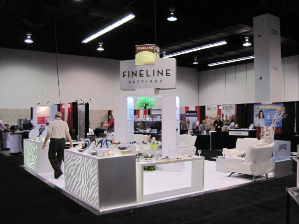 Fineline Settings at Tradeshow