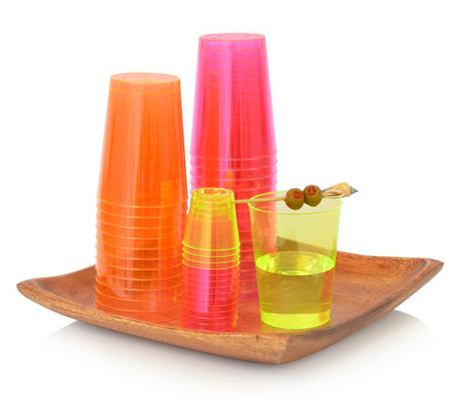 Savvi Serve Neon Disposable Tumblers