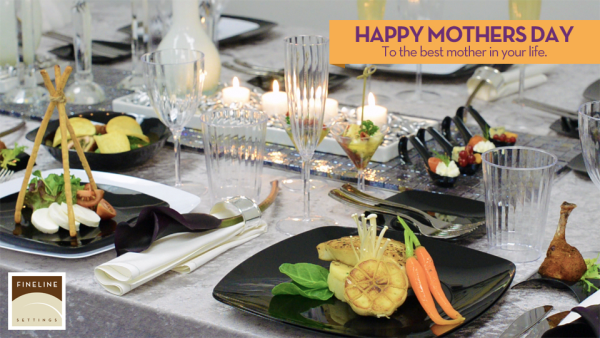 celebrate mothers day with upscale premium disposable party plates and tumblers