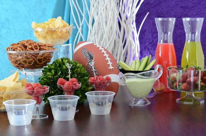 A Perfect Super Bowl Party with Disposable Partyware