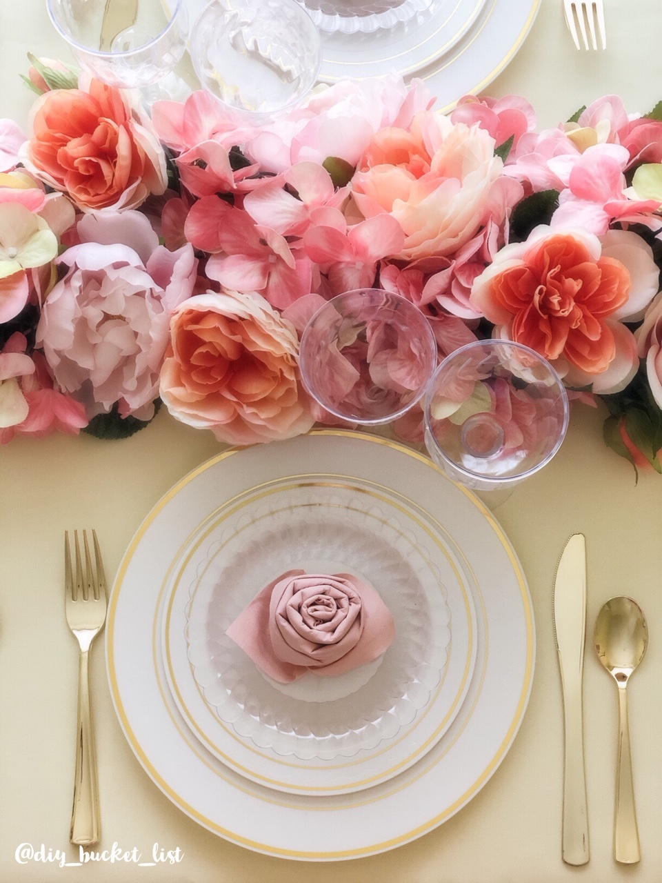 Spring table setting using Fineline Settings product line